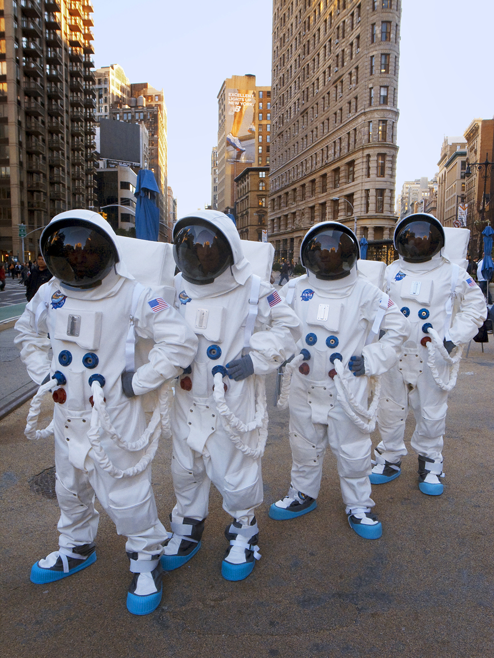 Astronauts on Union Square in New York City (click image to enlarge)