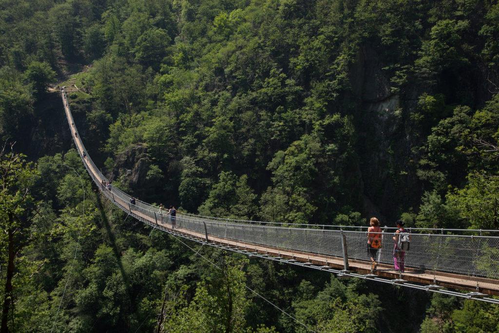 Switzerland. Ticino. Tibetan bridge. May 14, 2015.