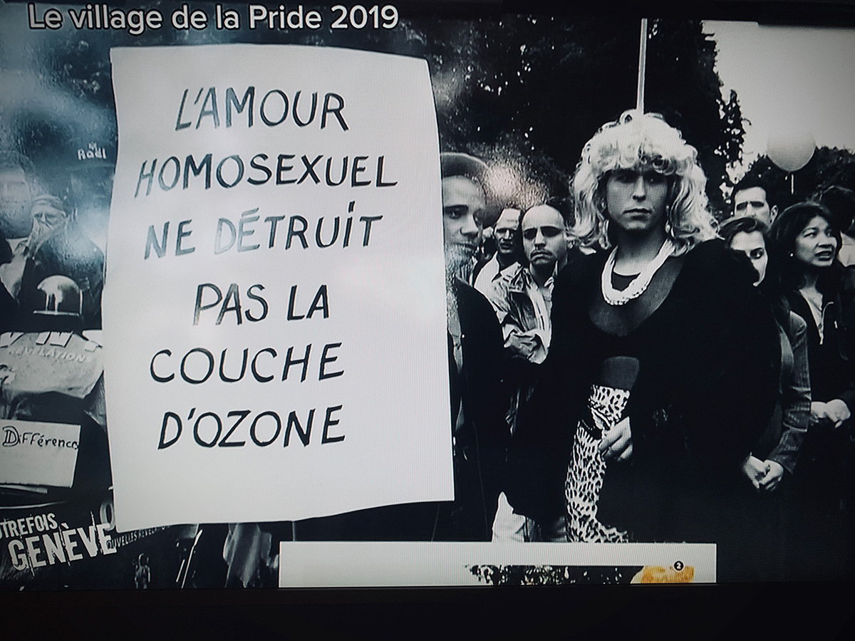 Léman Bleu Télévision. Autrefois Genève.Le journal de la Pride. October 22th, 2019(click image to enlarge)