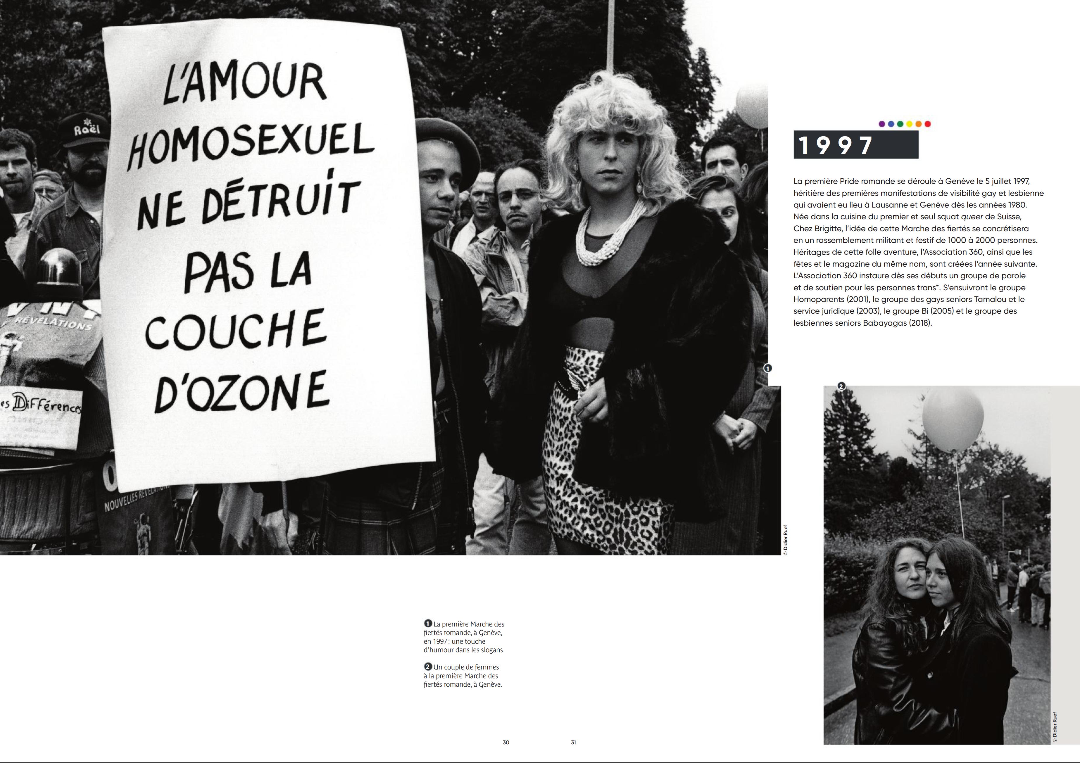 Ville de Genève. LGBTIQ+. Pages 30-31 .(click image to enlarge)