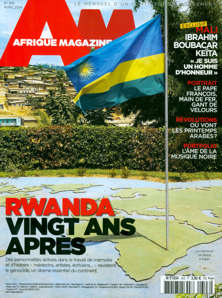 Afrique Magazine, n°343, April 2014, Cover image (click to enlarge)