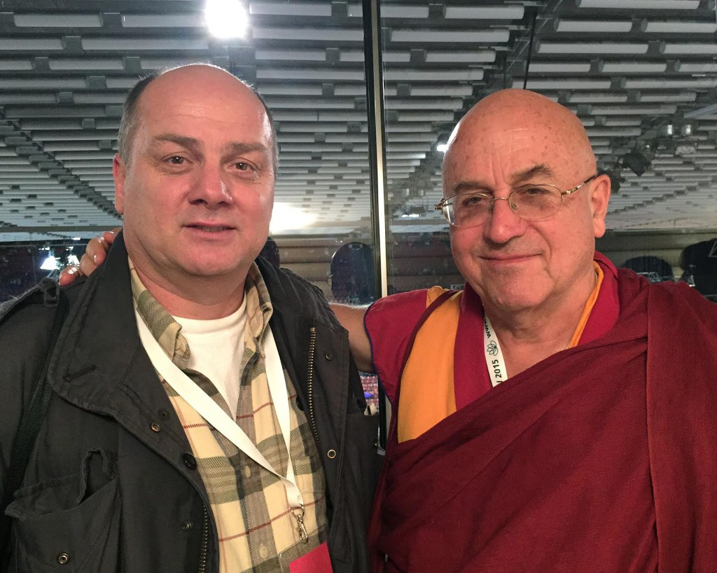 Didier Ruef and Matthieu Ricard at St. Jakobshalle in Basel (Switzerland) - 2015