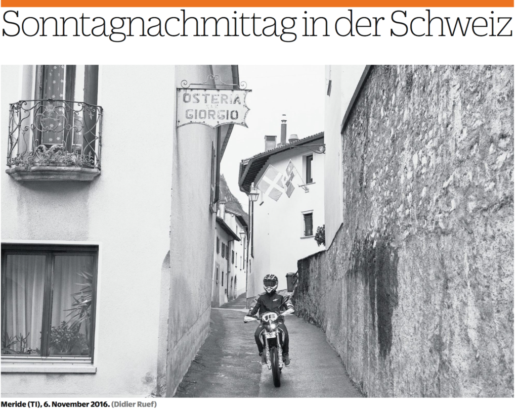 NZZ am Sonntag. Meride, Canton Ticino. Page 24. November 6, 2016.